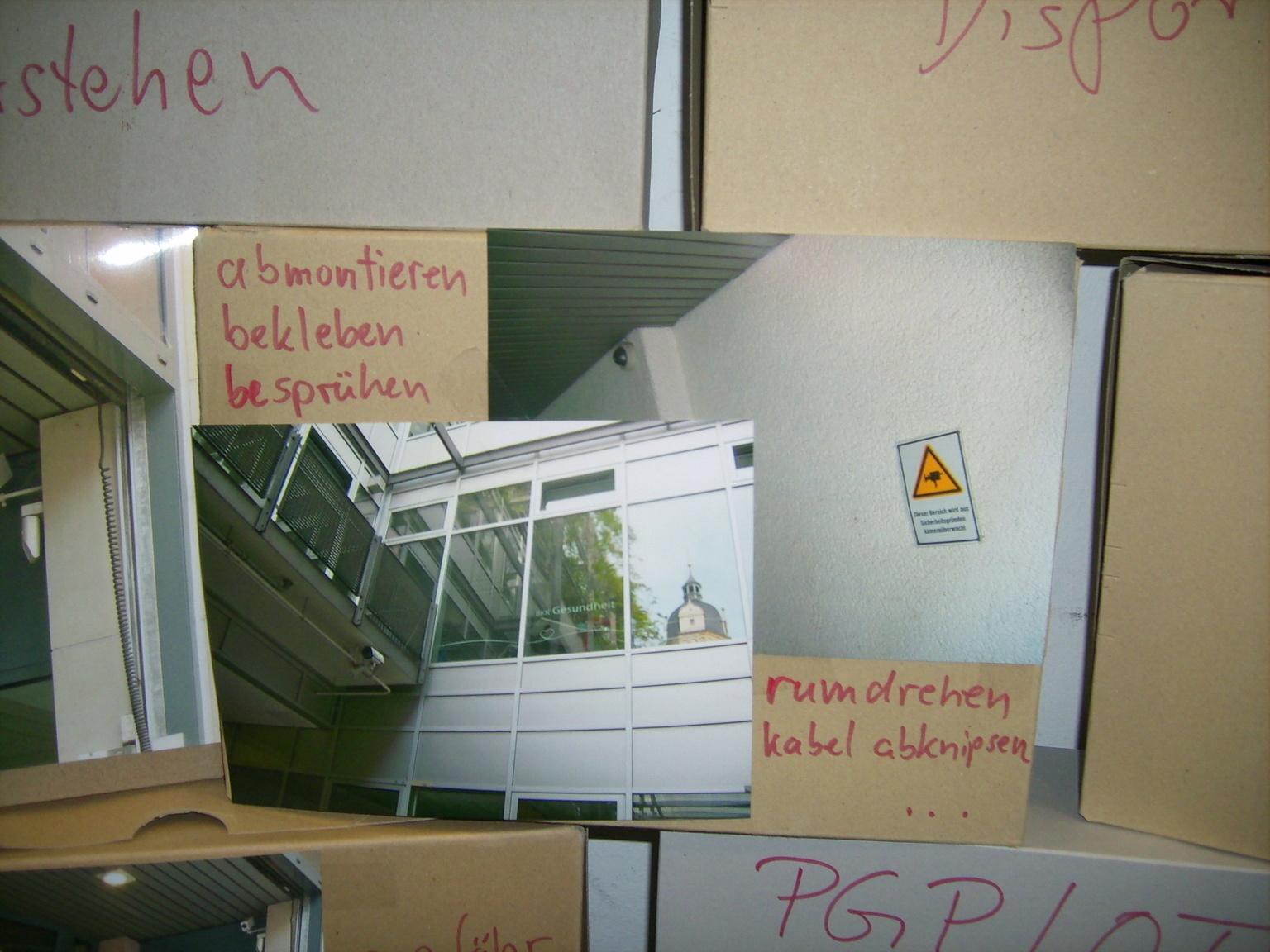 Karton-Wand 2